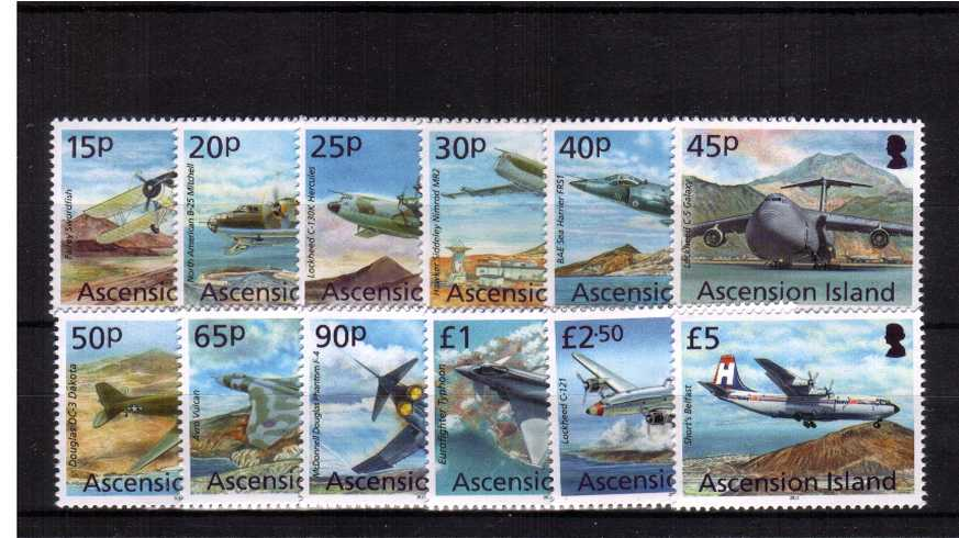 The Aircraft definitive set of twelve superb unmounted mint.<br><b>XCX</b>