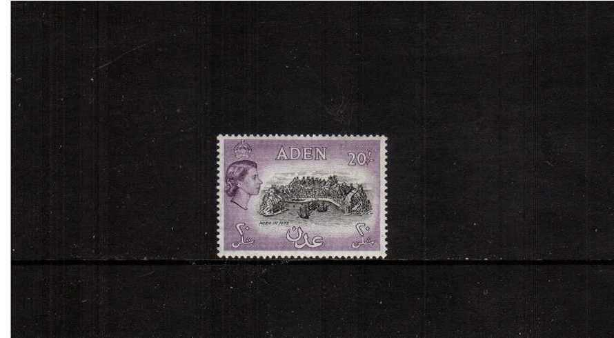 20/- Black a Deep Lilac definitive single lightly mounted mint.