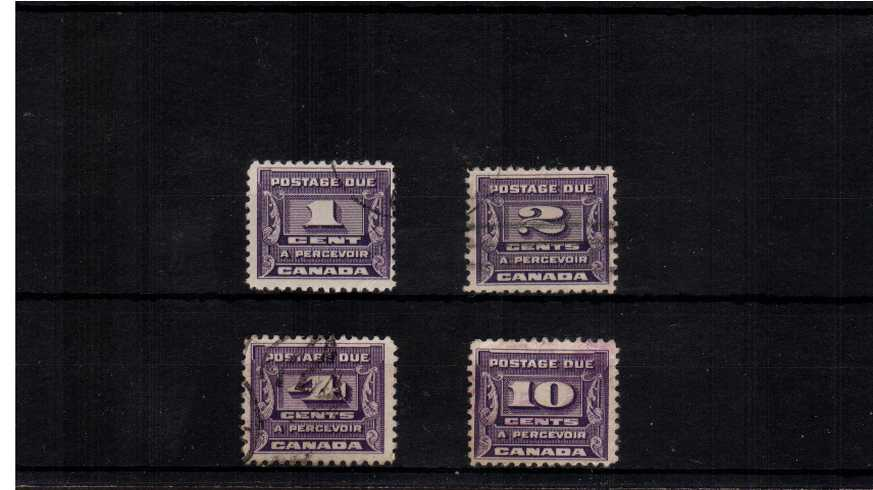 Postage Due set of four very fine used.<br><b>XQX</b>