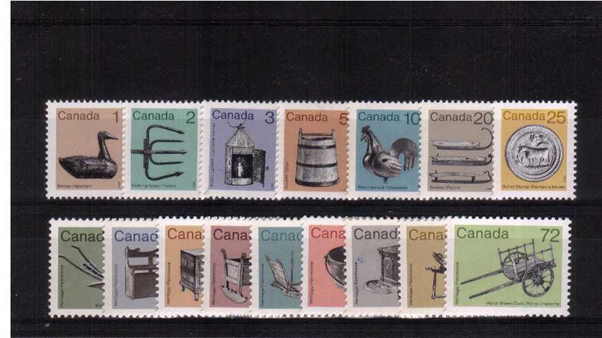 The ''Heritage Artifacts'' set of sixteen superb unmounted mint.