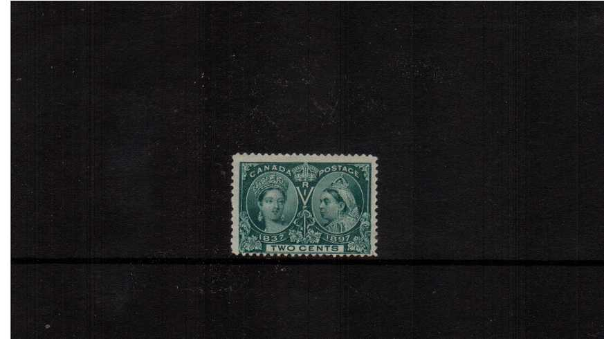 2c Deep Green  ''Queen Victoria Jubilee Issue''<br/>A lightly mounted mint stamp.