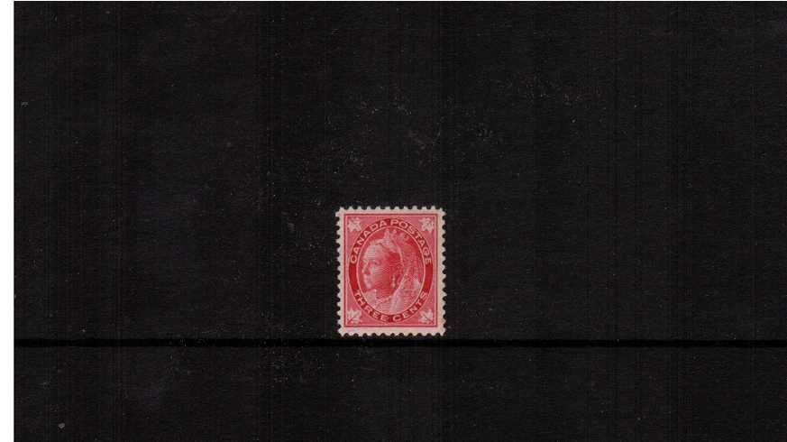 3c Carmine ''Maple Leaf'' Issue<br/>