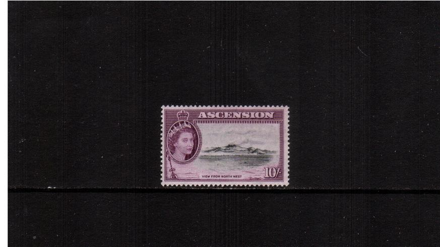 10/- Black and Purple - The top value of the set superb unmounted mint.
