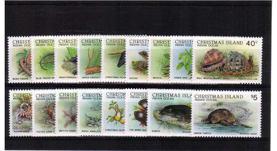 Superb unmounted mint set of seventeen
