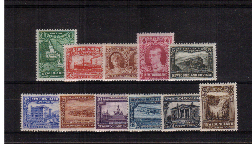 The re-engraved set of eleven superb unmounted mint. A bright and fresh set.