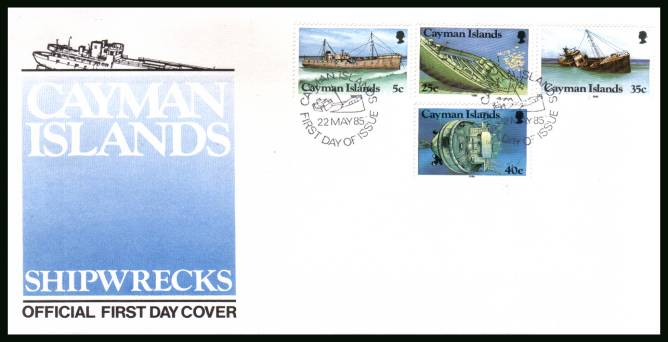 Shipwrecks official First Day Cover<br/>Please note that this is priced on the value of the used stamps<br/> with no special premium because its a FDC. <br/>SG Cat for the stamps �00