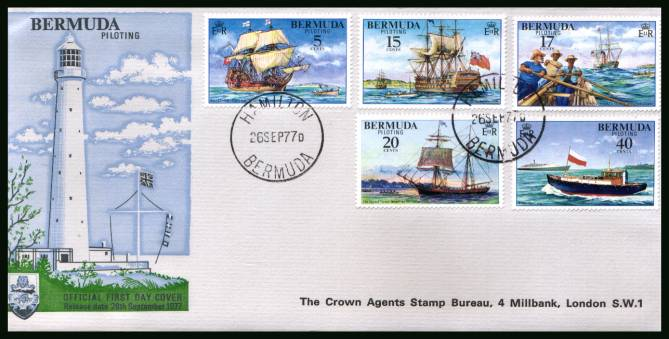 Piloting - Sailing ships<br/>A superb unaddressed illustrated First Day Cover offered at the value of the used stamps alone.