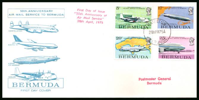 Air-mail Service to Bermuda<br/>A superb unaddressed illustrated First Day Cover offered at the value of the used stamps alone.
