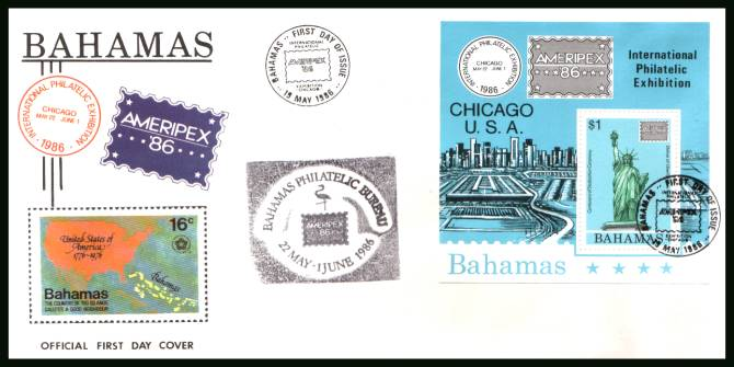 ''Ameripex'' '86'' Stamp Exhibition minisheet