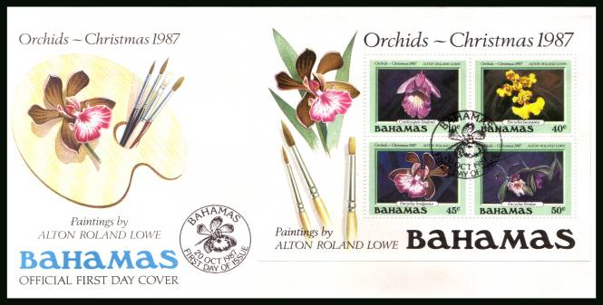 Christmas - Orchids<br/>on an unaddressed illustrated FDC