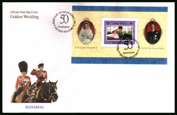 Golden Wedding of Queen Elizabeth minisheet