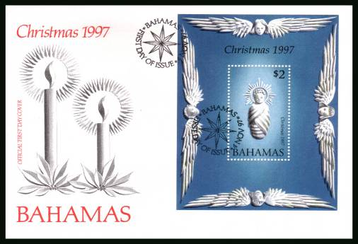 Christmas<br/>on an unaddressed illustrated FDC