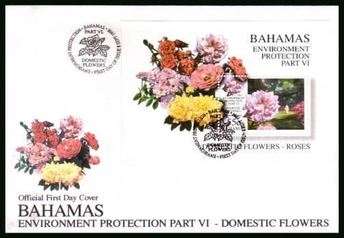 Enviroment Prorection - Part VI - Domestic Flowers<br/>on an unaddressed illustrated FDC