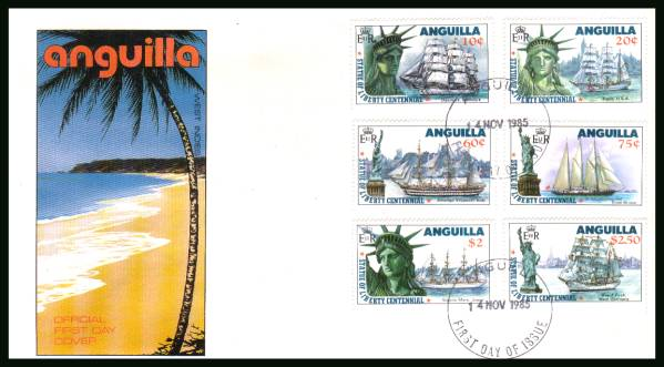 Centenary of Statue of Liberty<br/>on an unaddressed official First Day Cover