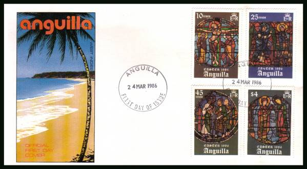 Easter<br/>on an unaddressed official First Day Cover