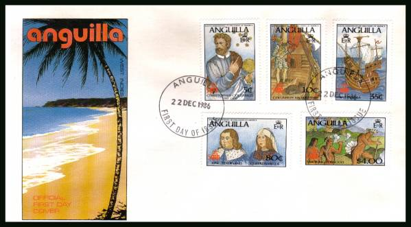 500th Anniversary of Discovery of America by Columbus<br/>on an unaddressed official First Day Cover