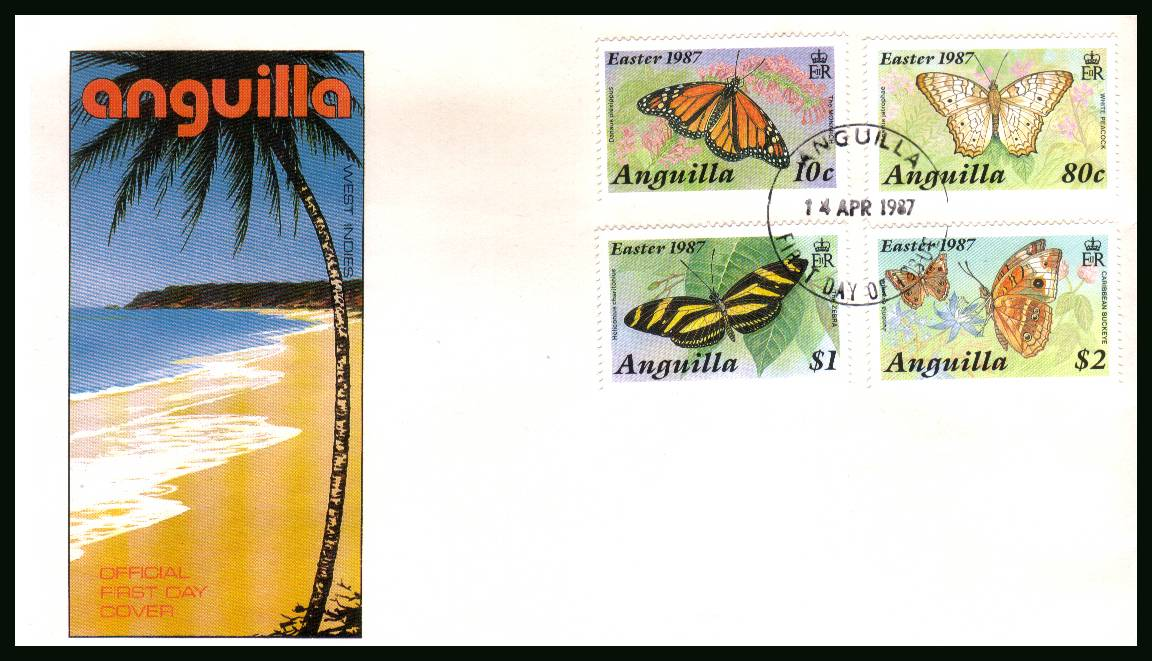 Easter - Butterflies<br/>on an unaddressed official First Day Cover