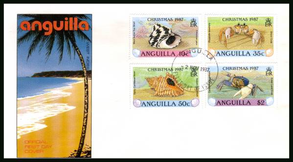 Christmas - SEa Shell and Crabs<br/>on an unaddressed official First Day Cover