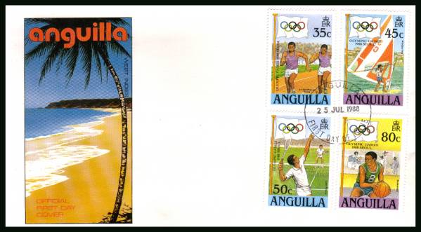 Olympic Games - Seoul<br/>on an unaddressed official First Day Cover