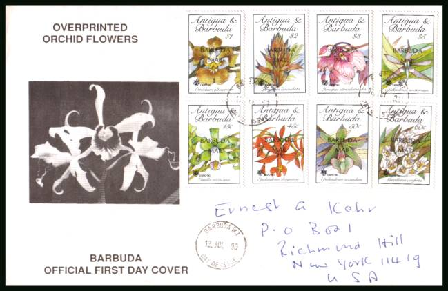 ''EXPO 90'' Garden Exhibition - Osaka<br/>on a hand addressed First Day Cover to New York USA