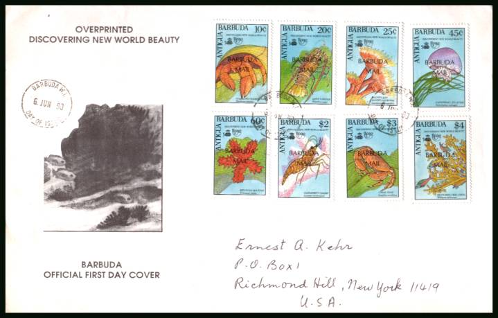 500th Anniversary of Discovery of America by Columbus<br/>on a hand addressed First Day Cover to New York USA
