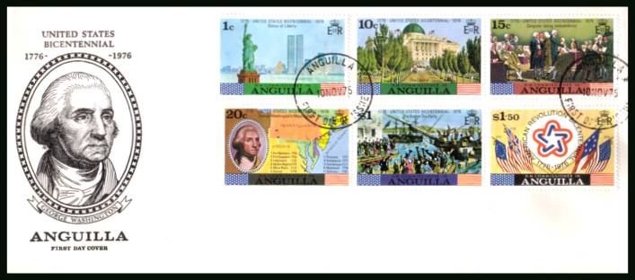Bicentenary of American Revolution<br/>on an unaddressed First Day Cover