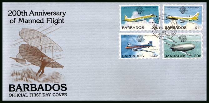 Bicentenary of Manned Flight<br/>on an unaddressed First Day Cover