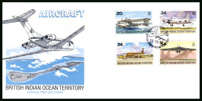 Visiting Aircraft<br/>cancelled with special cancel on an illustrated First Day Cover