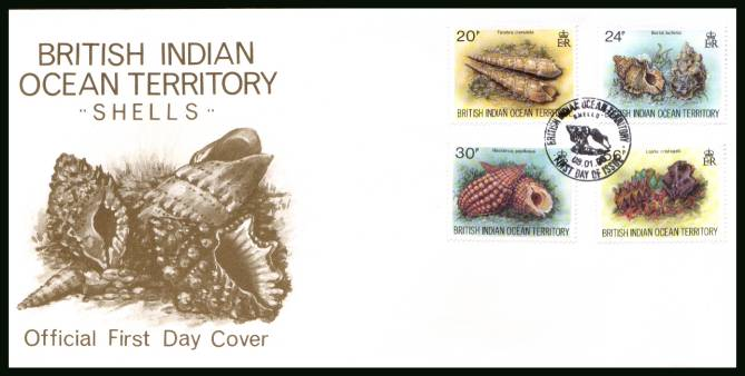 Sea Shells<br/>cancelled with special cancel on an illustrated First Day Cover