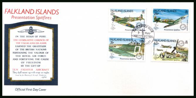 ''Stamp World London 90'' Stamp Exhibition - Spitfire Aircraft<br/>