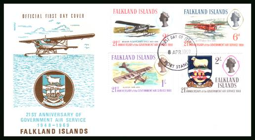 21st Anniversary of Government Air Services<br/>on an unaddressed official full colour First Day Cover