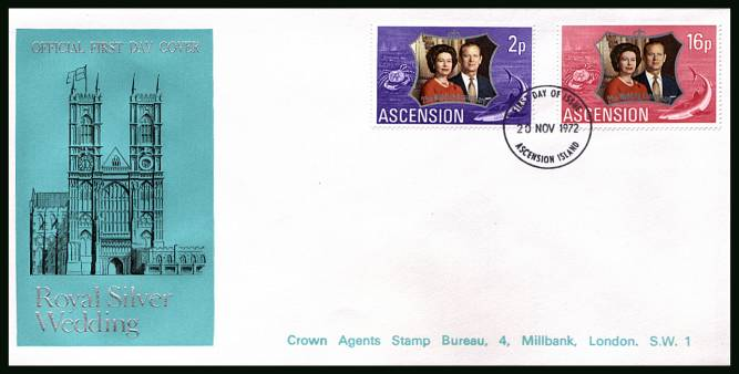Royal Silver Wedding<br/>on an official unaddressed official First Day Cover