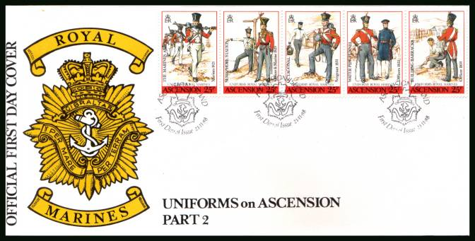19th Century Uniforms - 2nd Series<br/>on an official unaddressed official First Day Cover