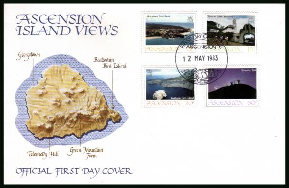 Island Views - 1st Series<br/>on an official unaddressed official First Day Cover