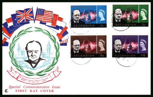 Churchill Commemoration<br/>on an official unaddressed official First Day Cover