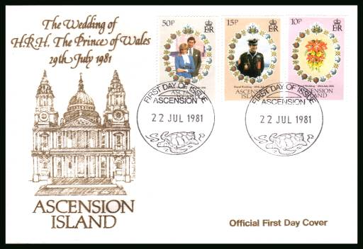 Royal Wedding<br/>on an official unaddressed official First Day Cover