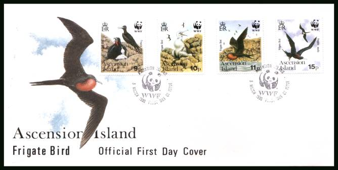 Ascension Frigate Birds<br/>on an official unaddressed official First Day Cover