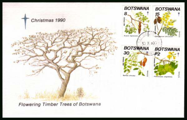 Christmas - Flowering Timber Trees<br/>on an official illustrated First Day Cover