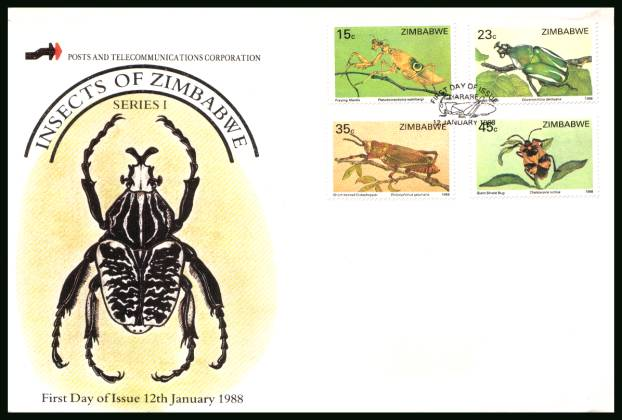 Insects<br/>on an official unaddressed First Day Cover