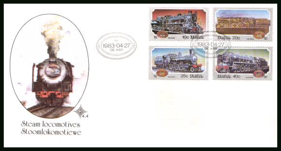 Steam Railway Locomotives - Trains<br/>on an official unaddressed First Day Cover