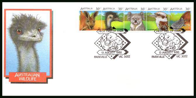 Australian Wildlife - 1st Series<br/>on an official unaddressed First Day Cover