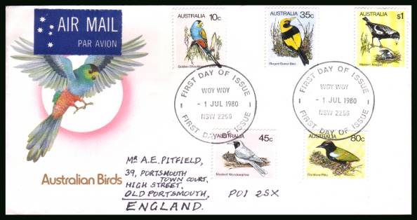 Australian Birds - 2nd Series<br/>on an official hand addressed First Day Cover