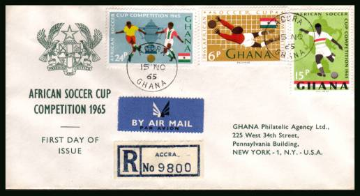 African Soccer Cup - Football <br/>on an official printed addressed illustrated First Day Cover
