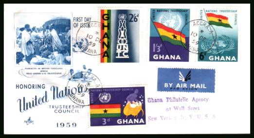 United Nations Trusteeship Council<br/>on a typed  addressed REGISTERED (label on back)  First Day Cover.