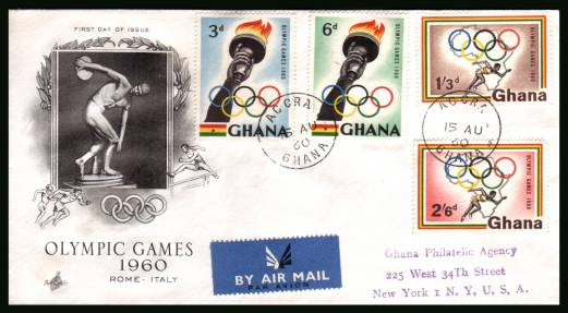 Olympic Games <br/>on a handstamp addressed REGISTERED (label on back)  First Day Cover.