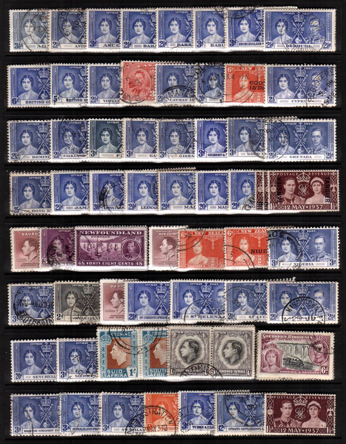 The Coronation complete omnibus set of 202 stamps superb fine used.<br/>Please note this is the actual set you will be sent. A way above average set!