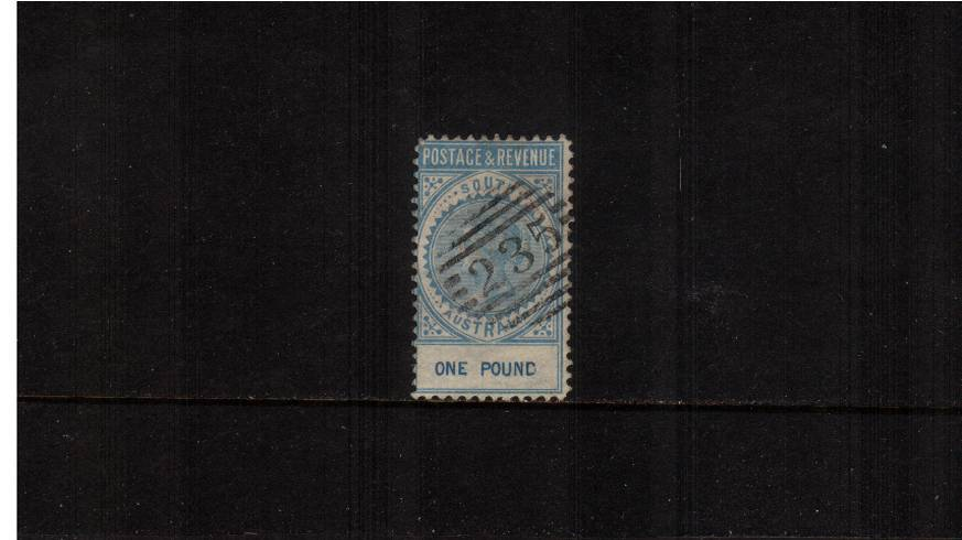 SOUTH AUSTRALIA - �Blue - Perforation 10. A superb fine used stamp with a light ''235''