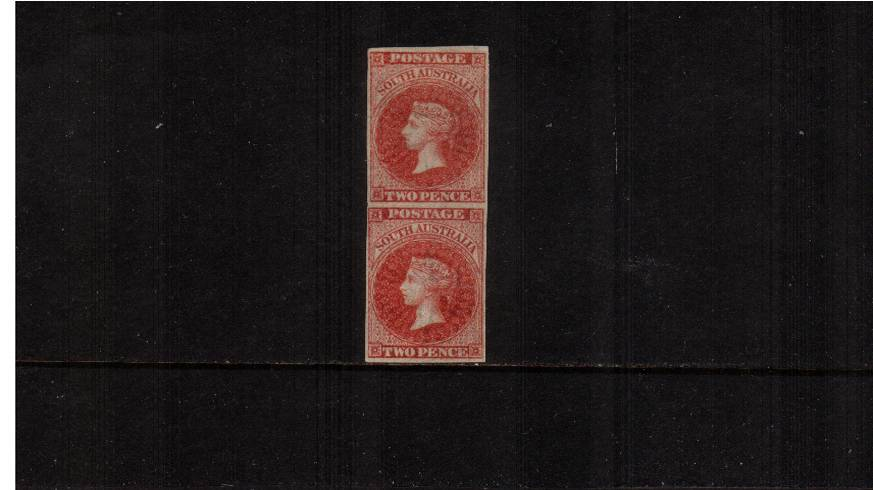 SOUTH AUSTRALIA - 2d Rose-Carmine.<br/>