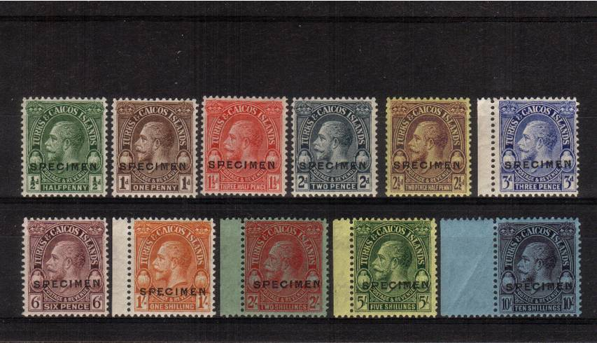 The ''POSTAGE & REVENUE'' superb unmounted mint set of eleven overprinted ''SPECIMEN''. A very rare set to find in unmounted mint condition. 