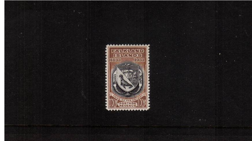 10/- Black and Chestnut from the Centenary set.<br/>